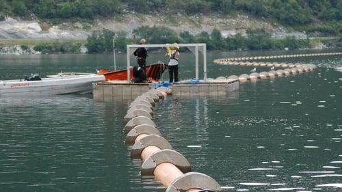 Senking av sjøledninger i Årdal