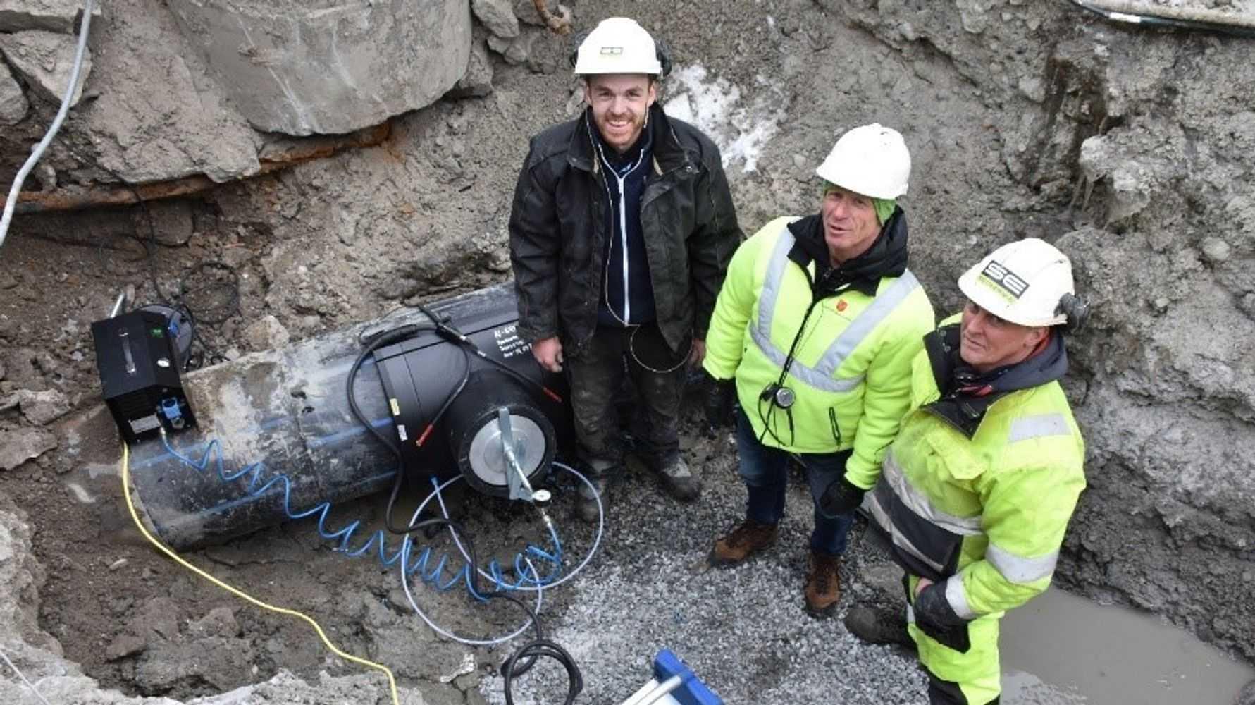 No-dig metode i Nedre Eiker og Drammen. Glitrevannverket benyttervakumteknologi