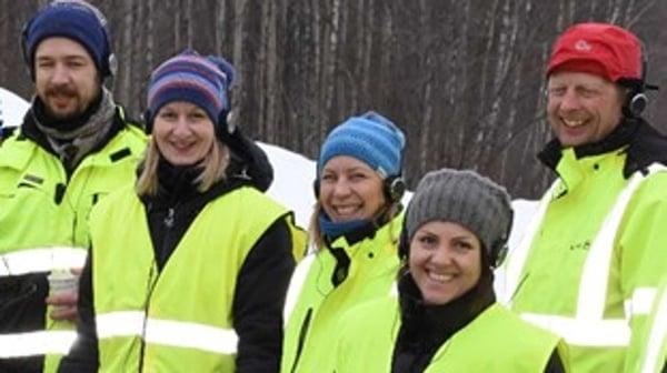 Fra venstre; Geir Henning HansenHansen, Ellen M. Jahren Randafra Asplan Viak, Hilde Nystog Aas, Sweco, SSTT-leder i Norge, Borghild T. Folkedal og Øystein Rapp fra Sweco.