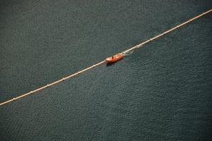 Avløp i rør på 200 meters dyp i Årdalsvatnet - 2