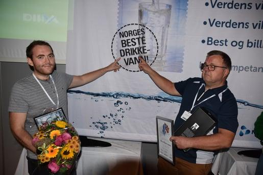 Jan Ottar Hope og Morten Andreassen sikret seier til Bømlo for Vestlandets beste overflatevann i 2018.
