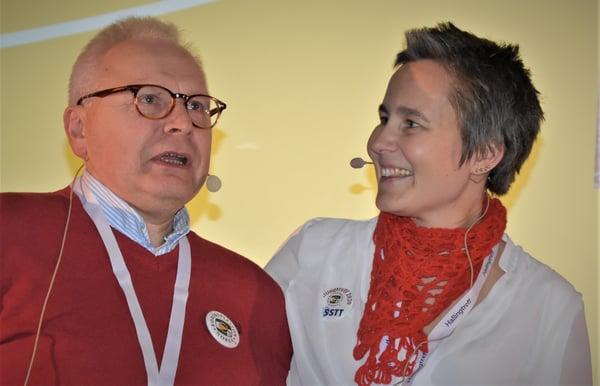 Morten Trevland og Martina Svedahl under Hallingtreff 2020