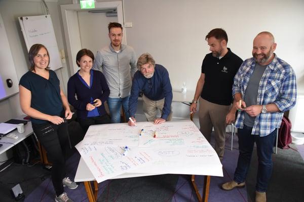 Deler av programkomiteen samlet under work-shop i Drammen, der det ble endelig bestemt at Hallingtreff 2021 skulle arrangeres digitalt.
