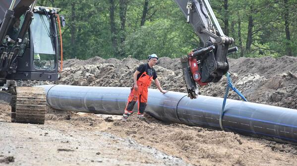 Nye nye overvannsledningar og drikkevannsledninger i Varberg