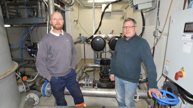 Privat vannverk har et stort ansvar. Frank Jenssen og Jin Degrum