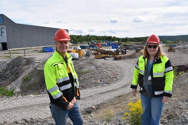 Spennende dager også for driftsleder Harald Berge og miljøingeniør Caroline Hauge, som fulgte boreprosessen tett.