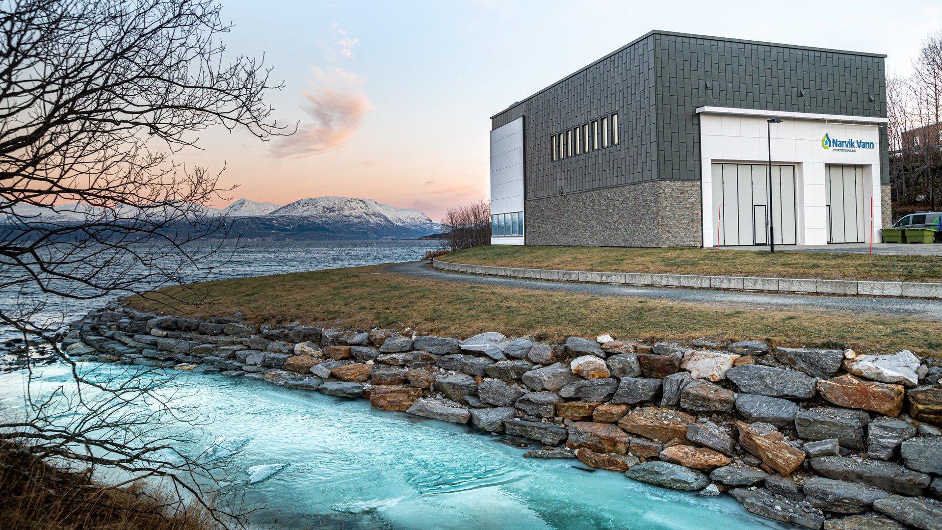 Narvik Avløpsrenseanlegg er et av de moderne anleggene i landet.