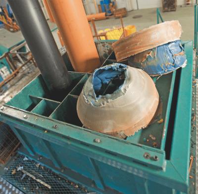 Grovkverning av plastrør til gjenvinning