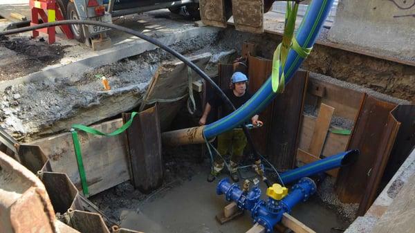 144 meter lange kveile som sikrer Romsdalsgata ny vannledning