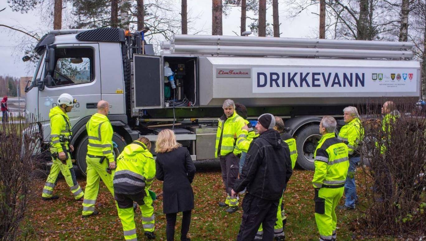 I Osloregionen har flere kommuner gått sammen om et nødvann-samarbeid for drikkevann.