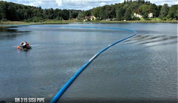 Senkingen av SESU-pipe gikk helt etter planen.